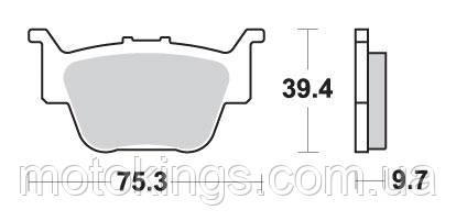 SBS ТОРМОЗНЫЕ КОЛОДКИ    KH373 OFF ROAD SINTER ЦВЕТ ЗОЛОТОЙ HONDA TRX420/650/680 ЗАДНИЕ (813SI)