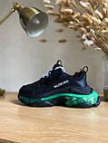 Кроссовки Balenciaga (Баленсиага) Triple S CLEAR SOLE BLACK/GREEN, фото 3