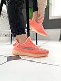 "Стильні кросівки Adidas Yeezy Boost 350 V2 ""Pink S"", фото 3"
