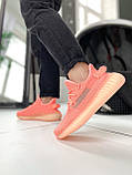 "Стильні кросівки Adidas Yeezy Boost 350 V2 ""Pink S"", фото 4"