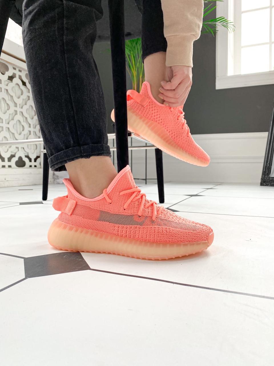 "Стильні кросівки Adidas Yeezy Boost 350 V2 ""Pink S"""