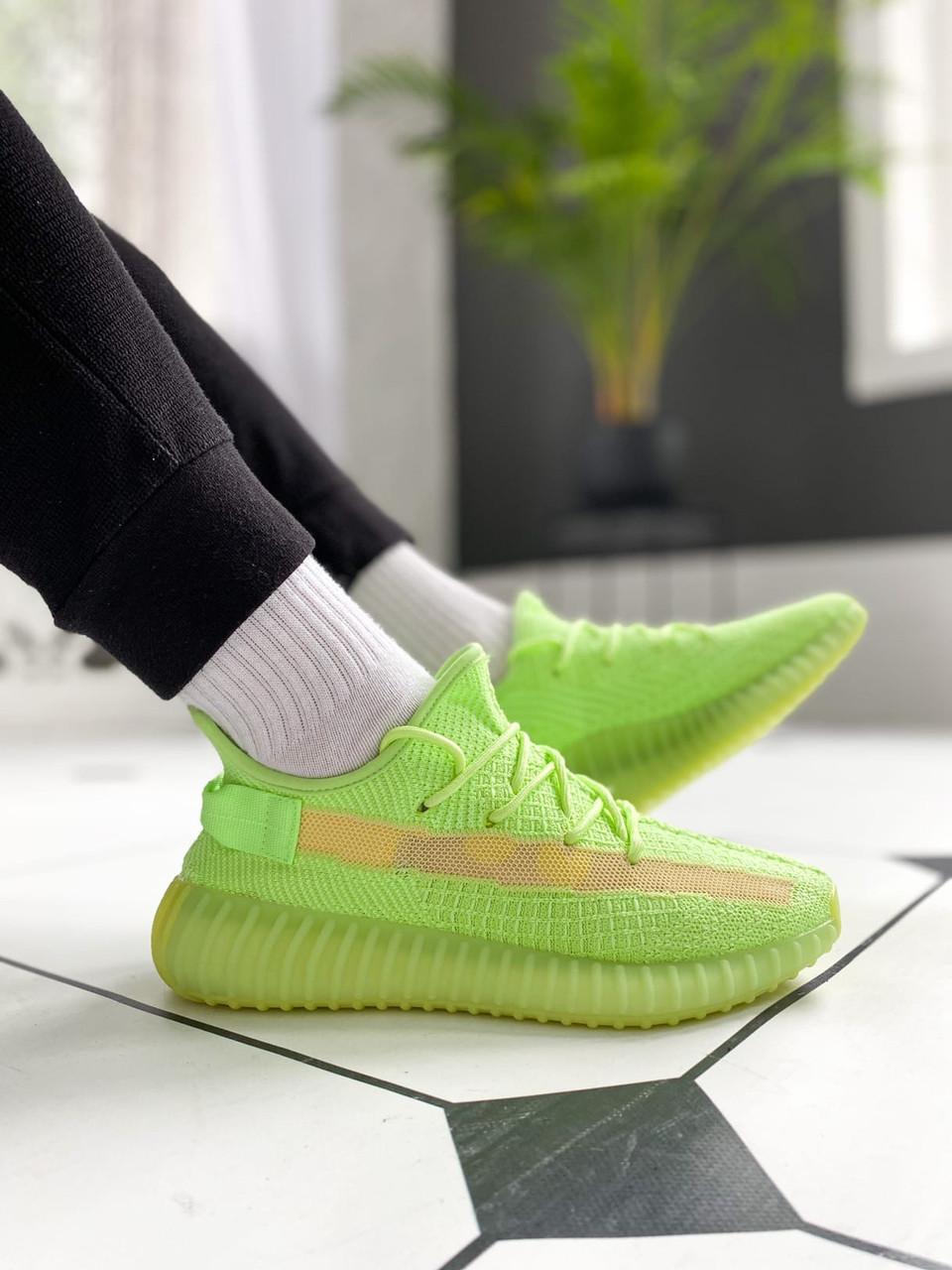 """Стильные кроссовки Adidas Yeezy Boost 350 V2 """"Glow"""""""