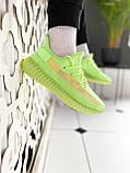 """Стильные кроссовки Adidas Yeezy Boost 350 V2 """"Glow"""", фото 4"""