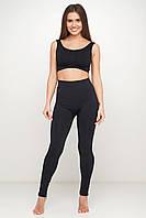 Женский спортивный комплект леггинсы (лосины) и топ, домашняя одежда, термобелье, спортивный комплект