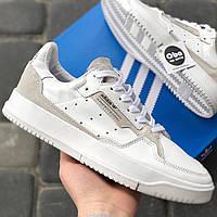 Кросівки Чоловічі Adidas Brand With The 3 Stripes Біла Шкіра (40-45)