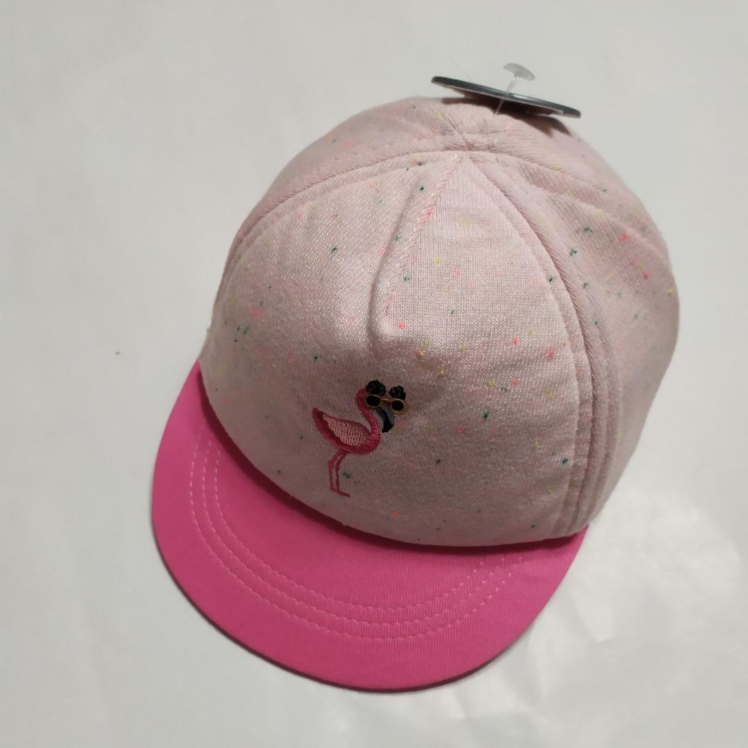 Детская кепка розовая Фламинго Primark  р.12-24мес.