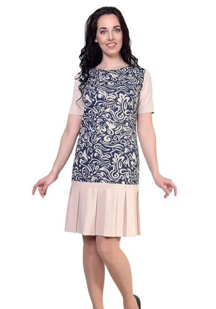 Платье  ультрамодного полуприлегающего силуэта