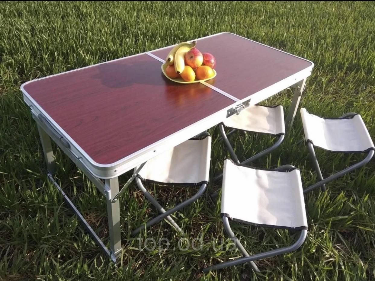 Походный стол для пикника Rainberg RB-9300 усиленный с 4 стульями