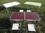 Походный стол для пикника Rainberg RB-9300 усиленный с 4 стульями, фото 7