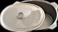 Гусятница алюминиевая 6 литров овальная литая + крышка (утятница) Гт 600 Дако