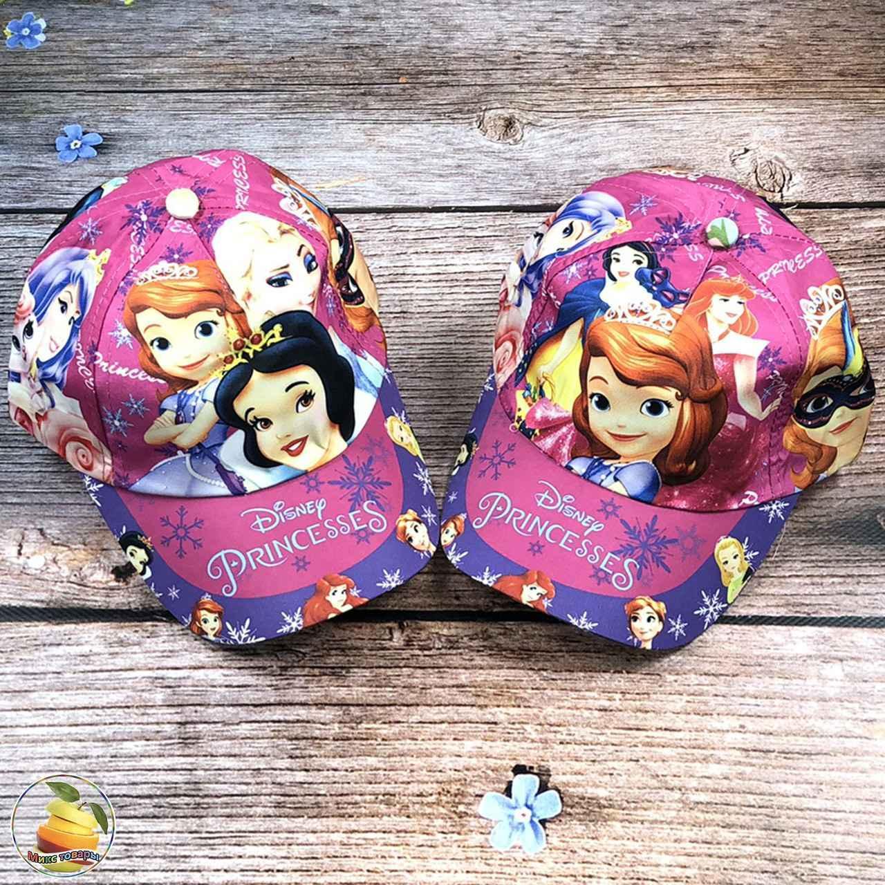 Детская кепочка с принцессами для девочек (объём 54 см) (3017)
