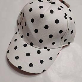 Детская кепка белая в горошек TU (Англия) р.6-9лет. (54см)