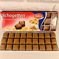 Шоколад черный Schogetten Peanuts (с арахисом) Felix Германия, 150 г, фото 1