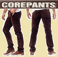 Мужские вельветовые джинсы стретч.