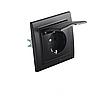 ElectroHouse Розетка с крышкой  Безупречный графит Enzo 16A IP22