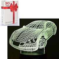 """Дитячий 3D нічник-світильник """"Машина""""  MK 4260-1"""