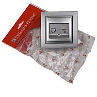 ElectroHouse Розетка компьютерная Серебряный камень Enzo IP22