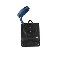 ElectroHouse Каучуковая настенная розетка с заземлением и крышкой 16A IP 44 Garant