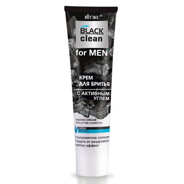 Крем для гоління з активним вугіллям Вітекс BLACK Clean For MEN 100 мл