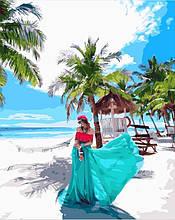 "Картина по номерам ""Девушка на Филиппинах"", 40х50 см, 3*, цветная заливка"