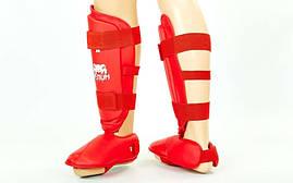 Защита голени с футами для единоборств PU VENUM MA-5857-R