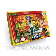 """Картина по номерам+рамка 32х23 см /DankoToys """"Осень"""""""