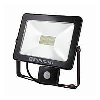 Прожектор з датчиком руху EVROLIGHT EV-50-504-XL 50W 6400К