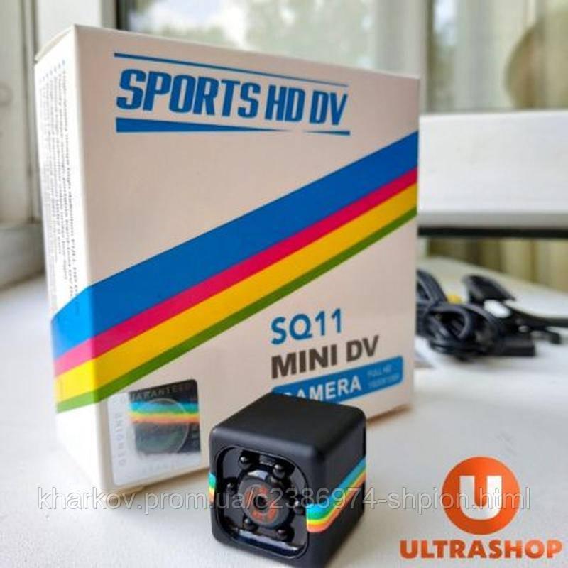 Мини камера SQ11 регистратор с ночной подсветкой и датчиком движения Чёрная