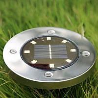 Вуличний наземний ліхтар - світильник на сонячній батареї 8 LED, фото 1