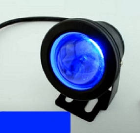 Светодиодный грунтовой линзованный светильник LM 17B 10W синий  IP65 Код.59732