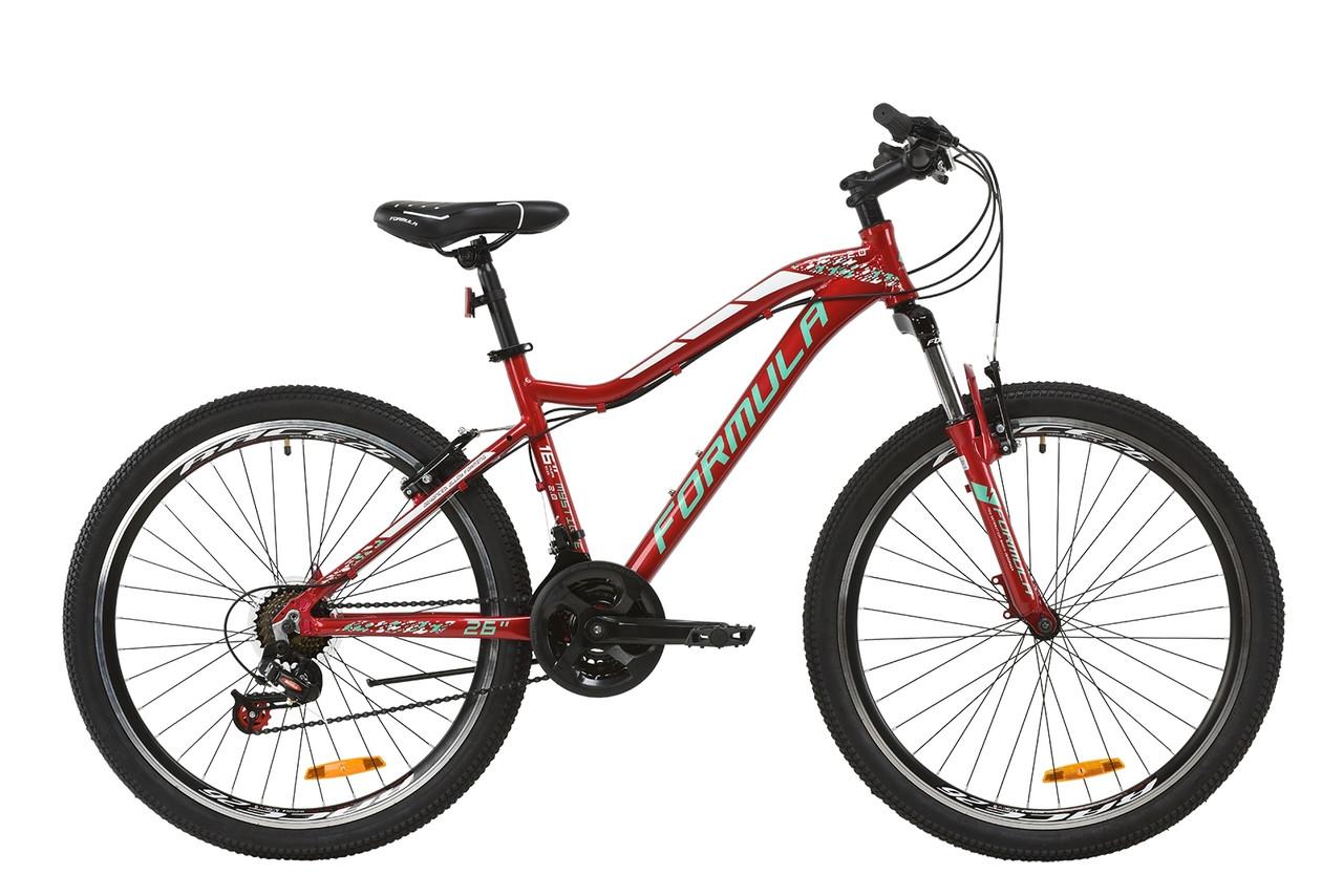 """Велосипед 26"""" Formula MYSTIQUE 2.0 2020 (рубиновый с зеленым и белым)"""