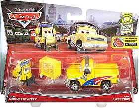 Металлические Mашинки Тачки Cars 2-Pack Gorvettes Pitty и Lassetire SKL52-241141