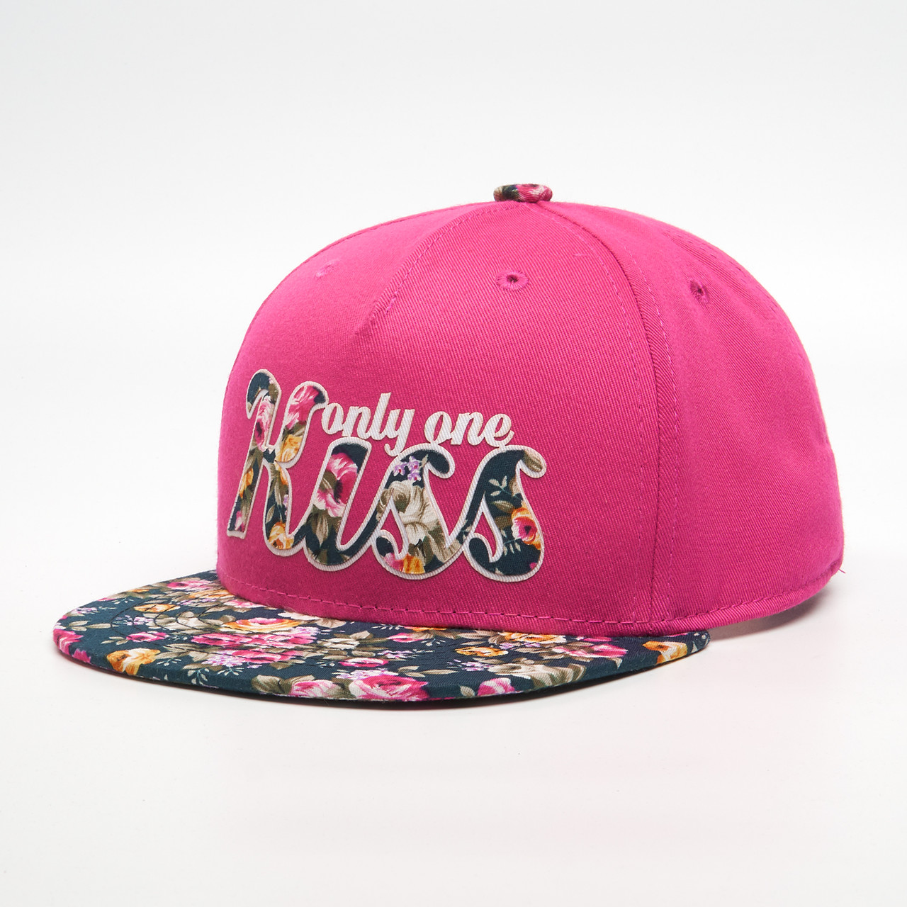 Детская кепка бейсболка для девочки 3-16 лет INAL kiss XS / 51-52 RU Малиновый 45251