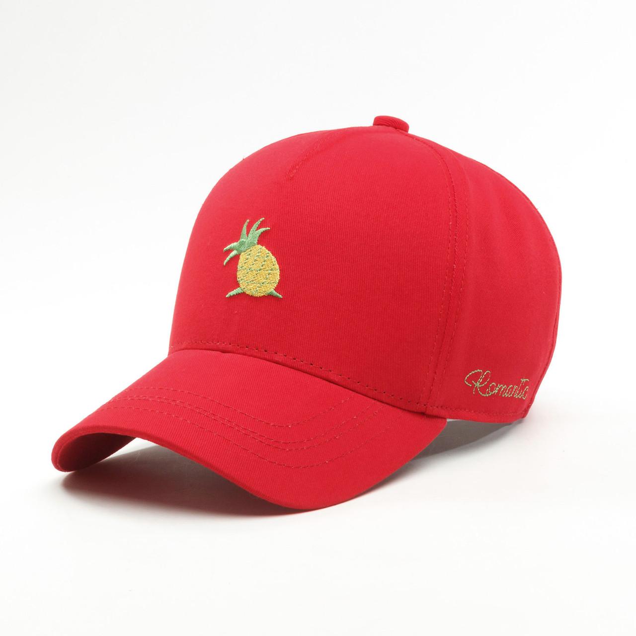 Женская кепка бейсболка INAL ананасик S / 53-54 RU Красный 69353