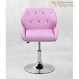 Перукарське крісло на диску HC949K лаванда, фото 2