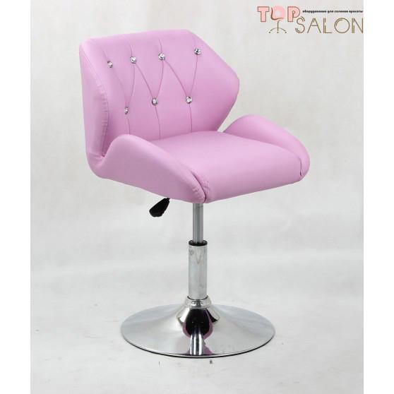 Перукарське крісло на диску HC949K лаванда