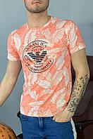 Футболка мужская оранжевая AAA 6653, фото 1