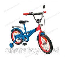 """Детский разноцветный двухколесный велосипед """"Porsche"""""""