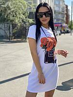 Платье-футболка с принтом, фото 1