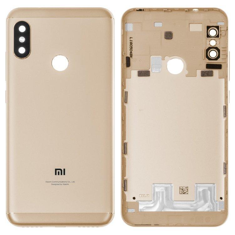 Задняя крышка Xiaomi Mi A2 Lite | Redmi 6 Pro, золотистая