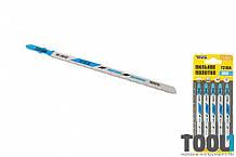 Пильное полотно по металлу 5 шт, чистый прямой рез 100 мм ( T318A) MASTERTOOL 14-2813