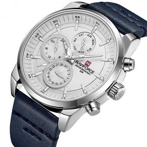 Naviforce NF9148 Blue-Silver-White