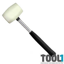 Киянка резиновая 450 г. 65 мм, белая резина, металлич. ручка INTERTOOL HT-0227