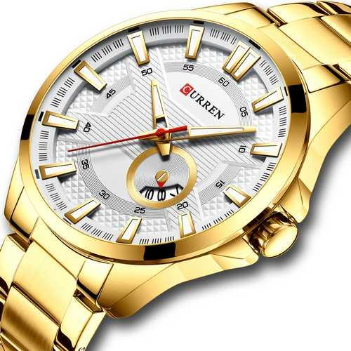 Curren 8372 Gold-White