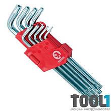 Набор Г-образных ключей TORX с отверстием 9 шт, Т10-Т50, Cr-V, Big INTERTOOL HT-0606