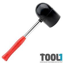 Киянка резиновая 1250г, 90мм черная резина, металлическая ручка INTERTOOL HT-0228