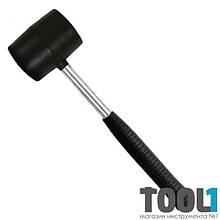 Киянка резиновая 340 г, 55 мм, черная резина, металлич. ручка INTERTOOL HT-0229