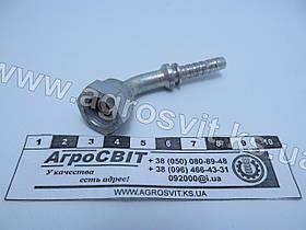 """Ниппель DKR 1/4""""-19 (под шланг dу=06 мм.) (угол 45°)"""