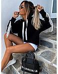 Женский свитшот, турецкая двунить, р-р С-М; М-Л (чёрный), фото 4