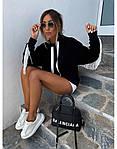 Женский свитшот, турецкая двунить, р-р С-М; М-Л (чёрный), фото 3